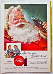 1955 Santa Claus 1950s Christmas Vintage Coca Cola Advertisement From National Geographic Back Page 16 (Christian Montone) Tags: vintage ads advertising coke americana soda cocacola advertisements sodapop vintageads vintageadvert