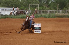 Meeker Memorial Day Barrel Race (Garagewerks) Tags: horse oklahoma sports girl sport race america cowboy all action barrels sony country barrel racing american rodeo cowgirl meeker athlete 70300mm tamron saddle countryliving barrelracing barrelrace f456 a65 jrrodeo roundupclub slta65v meekerroundupclub