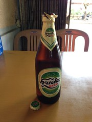 a bottle of Huda beer. Hue, Vietnam (iamgang00) Tags: beer vietnam hue huda uploaded:by=flickrmobile flickriosapp:filter=nofilter
