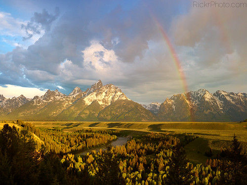 Double Rainbow over the Grand Tetons and Snake River