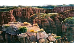 Morning Light on the East Rim No 2 -watercolor