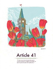UN Rights of the Child poster #41 (0n3d0v3) Tags: red illustration photoshop vintage child tulips parliament canadian rights law illustrator parliamenthill laws retrovector