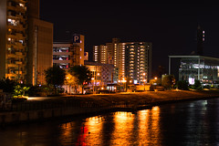 River Lights 1 (Yosi Oka) Tags: japan river niigata nightwalk  niigatacity