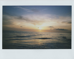 Sunset on Lido Beach (Jacob's Camera Closet) Tags: camera sunset film beach fuji instant lido instax 210