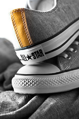Converse All Star. (CWhatPhotos) Tags: pictures camera black canon that lens stars photography foot eos prime star shoes all foto image artistic pics picture pic images wear ox canvas have photographs photograph fotos converse 7d chuck denim 60mm which allstar chucks allstars contain blackdenim canvasshoes cwhatphotos