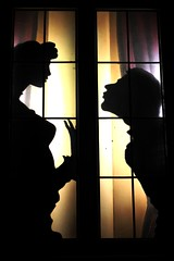 without words (Wackelaugen) Tags: silhouette canon photo kiss couple friendship silhouettes lovers shadowplay galantyshow