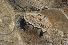 Shaubak Castle (APAAME) Tags: archaeology ancienthistory montreal middleeast airphoto aerialphotography crusadercastle shaubak shawbak shoubak aerialarchaeology jadis2099001 megaj9791 قلعةالشوبك