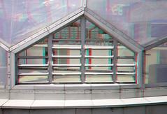 Rijnhaven Drijvend Paviljoen 3D (wim hoppenbrouwers) Tags: 3d rotterdam anaglyph domes paviljoen redcyan rijnhaven koepels floatingpavilion drijvendpaviljoen rotterdamanaglyph
