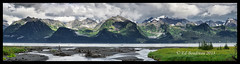 Sewards Allure (Ed Boudreau) Tags: alaska landscape bay panoramic moutains darkclouds stormyclouds resurrectionbay cloudbreak baywater highgrass sewardalaska alaskamountains headwater alaskalandscape summeralaska