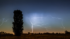 ieri sera ... (paolo paccagnella) Tags: longexposure light panorama cloud tree rain landscape photo paolo wind campagna lightning paesaggio fulmini wett canonequipment canonefs1755mmf28isusmlens phpph phpphotographycom