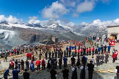 Alphorn Group Performance (Bephep2010) Tags: mountain alps berg schweiz switzerland sony performance ridge gornergrat zermatt alpen alpha konzert 77 wallis valais worldrecord weltrekord alphorn walliseralpen bergrücken valaisalps slta77v sal1650f28