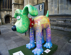 Gromit Unleashed - Poetry In Motion (Cris Ward) Tags: street city uk travel summer sculpture dog holiday streetart color colour travelling art animal statue digital painting bristol artwork model colorful artist bright vibrant character sony cartoon wide decoration vivid wideangle collection installation animation wallace british enthusiast colourful 1855mm alpha dslr amateur ultrawide gromit wallaceandgromit hunt beginner britiain a450 gromitunleashed