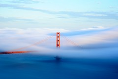 golden gate bridge from hawk hill (andrew c mace) Tags: sanfrancisco longexposure fog 50mm bay afternoon goldengatebridge daytime nikkor marinheadlands nd400 hawkhill nd8 colorefex capturenx nikond90