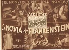 La novia de Frankestein-I (Kirby York) Tags: classic cine posters terror boris movies carteles clasico karloff programasdemano