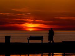Sunset Walk on the Pier-118 (MJThomas410) Tags: sunset ontario canada love pier stcatharines portdalhousie twelvemilecreek mjthomas