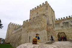 Travels of badger - Castelo de So Jorge (enigmabadger) Tags: travel vacation portugal europe lego fig lisboa lisbon minifig custom portuguese minifigure brickarms vision:outdoor=0964