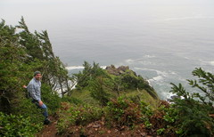 down to the end of the earth (carolyn_in_oregon) Tags: oregon al allie pacificocean oswaldweststatepark neahkahniemountain