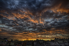 Burning Skies (RTA Photography) Tags: city light sky clouds glow rooftops hdr 3xp nikond5000 hdrefex