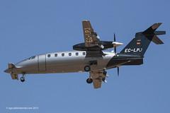 EC-LPJ - 2011 build Piaggio P180 Avanti II, on approach to Runway 24L at Palma (egcc) Tags: jet executive mallorca palma majorca piaggio 1223 ges pmi avanti p180 lepa pt6a gestair bizprop eclpj