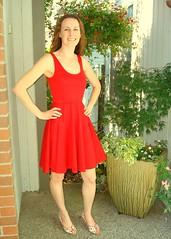 Circle knit tango red 05 (F is for Flamingo) Tags: red dress mccalls