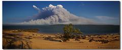 Bushfires on Straddie (danishpm) Tags: panorama canon smoke australia aussie aus bushfire stradbrokeisland coochiemudlo theworldwelivein 1740mmf40l 5dmarkiii heliopanpolariser 40degreeheat
