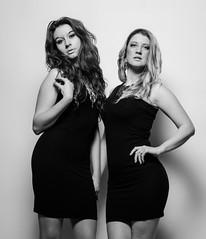 KK6 (PaulGibsonPhoto) Tags: girls bw fashion studio mono nikon duo pair models interfit tamrom strobist d7000 3x150