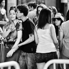 DSC_4219-Edit.jpg (Luminor) Tags: uk england people brick london love beauty smile look happy blackwhite nikon kiss emotion sweet bokeh f14 candid 85mm lane gb moment act feelings streetphotgraphy d700 cinematciphotography