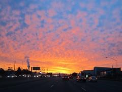 some weather at last (Riex) Tags: california sky clouds sunrise dawn ciel fractals nuages californie aube leverdusoleil cottonclouds s95 canonpowershots95 pommelés