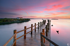 Chill Out Moment (CResende) Tags: portugal colors sunrise landscape pier warm jetty setubal moment nikkor d800 chillout 1635 mourisca cresende