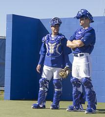 Catchers in waiting: A.J. Jimenez and Erik Kratz (LottOnBaseball) Tags: bluejays dunedin springtraining mlb torontobluejays erickratz ajjimenez