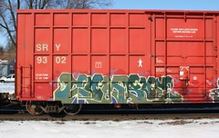Combos (quiet-silence) Tags: railroad art train graffiti railcar boxcar graff freight sry combos fr8 sry9302
