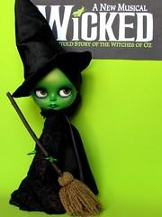 Custom caracterizada Elphaba (inspirada no musical Wicked) para Carol Fung <3