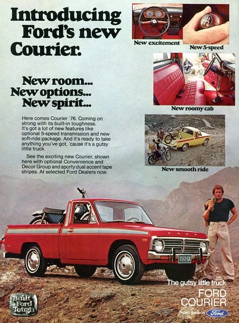 hot ford august advertisement rod courier 1976