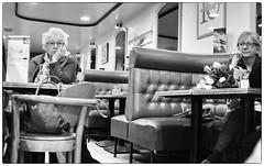 DSCF5145 (sergedignazio) Tags: street portrait café photography blackwhite frankreich noir photographie femme nb rue francia blanc lunette visage reportage フランス vif humain 法国 humaniste франция x100s