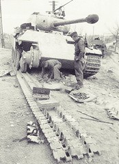 "Reparing,Eastern Front,1944 • <a style=""font-size:0.8em;"" href=""http://www.flickr.com/photos/81723459@N04/13327736003/"" target=""_blank"">View on Flickr</a>"