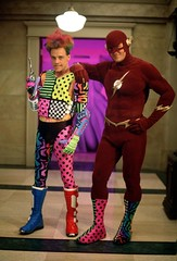 The Flash and the Trickster (Guardian Screen Images) Tags: show red speed jesse john scarlet comics james book dc tv comic allen brothers mark flash books super tights warner barry hero superhero series network wesley montgomery tight trickster bros spandex 1990 lycra speedster the hamill shipp