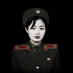 FEMME SOLDAT NORD COREENNE A PYONGYANG, COREE DU NORD (Eric Lafforgue Photography) Tags: voyage travel portrait woman color colour cute sexy girl square army clothing war uniform asia kim feminine military femme squareformat asie jolie guide beret 2008 fille couleur adultsonly militaire oneperson northkorea armee uniforme ideology axisofevil pyongyang eastasia feminin dprk carre juche armymuseum lookingatcamera coleur museedelarmee seduisante oneyoungwomanonly dictature democraticpeoplesrepublicofkorea koreanpeninsula unepersonne juchesocialistrepublic coreedunord rdpc insidenorthkorea northkoreanarmy armeenordcoreenne