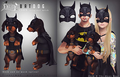 Bat Dog - The Men's Dept (Dani @ Alchemy & .B I R D Y <3) Tags: dog pet mesh super sl event secondlife hero mens batman daschund birdy dept batdog ninahelix
