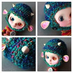 Chunky! (EssHaych) Tags: baby animal doll helmet yarn fawn blythe hay etsy chunky chinstrap erikosemporium