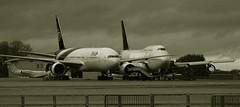 Thai died (crusader752) Tags: exthaiairways boeing b777 b7772d7 hstjf b747400 saudi airliner jetairliner aircraft bw black white monochrome mono exsaudiarabian