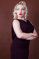Demure.... (Darren Flinders) Tags: vintage model femalemodel studioshot blondehair blueeyes demure lady gorgeous beautiful
