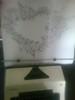 Corazon con notas musicales (elartistadelamaquinadeescribir) Tags: corazon musica notas maquinadeescribir mecanografia puntodecruz manualidad arte artesanias