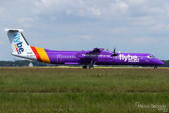 Flybe Bombardier Dash 8-Q402  |  G-JECY  |  Amsterdam Schiphol - EHAM (Melvin Debono) Tags: flybe bombardier dash 8q402 | gjecy amsterdam schiphol eham polderbaan melvin debono spotting canon 7d 600d plane planes airport airplane aviation aircraft netherlands holland purple