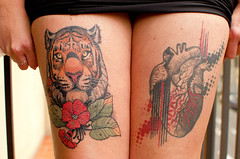 Tiger & Hearth & Sexy (Santini1972) Tags: tatto tiger hearth woman legs two nikon35mm18 nikond5100 nikonflickraward nikoneurope sexy