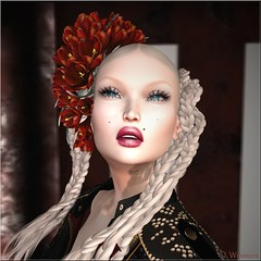 *LODE* Head Accessory - Crocus (red) (Ombrebleue Winsmore) Tags: han thank you marjorie