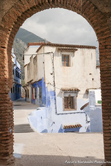 Looking in archway at Chefchaouen Medina (adventurousness) Tags: bluecity chefchaouenthebluepearl thebluecity arch blue chaouen chefchaouen morocco travel medina