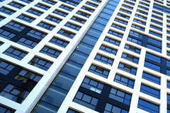 Up (YIP2) Tags: studenthousing roosros architecture white architect delft building modernarchitecture stripes line lines window windows minimal minimalism design cross