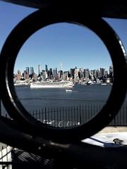New York City Adventures (pepsigirl917) Tags: newyork ny skyline city dock water boat cruiseline norwegian porthole lens cruise