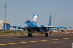 Kazakhstan Air Force Sukhoi Su-27M2 16 Yellow taxiing out at KADEX-2016, Astana Kazakhstan (Jeroen.B) Tags: 2016 airport defence expo kadex kazachstan kazakhstan uacc қазақстанның air force sukhoi su27m2 16 su27 27 ye yellow kadex2016 astana international
