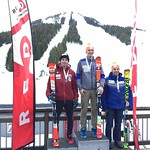 Liam Wallace 1st U19; Kyle Alexander 2nd U19; Carson Cook 3rd U19 at Red Mountain FIS SL